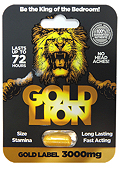 Gold Lion Erection Pill - Gold Label 3000mg Capsule (140910.62)